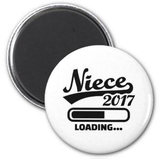 Niece 2017 2 inch round magnet