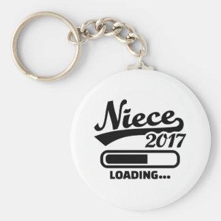Niece 2017 basic round button keychain