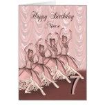 Niece age 7, a ballerina birthday card