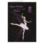 Niece age 8, a ballerina birthday card