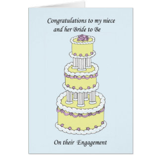 Niece and Bride to Be Engagement Congratulations. Card