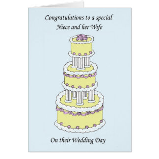 Niece and wife wedding congratulations card