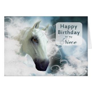 Niece birthday, Arabian spirit Horse Card