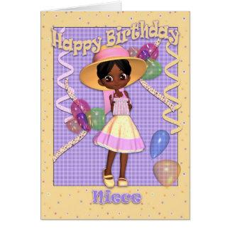 Niece Birthday Card - Cute Little Girl