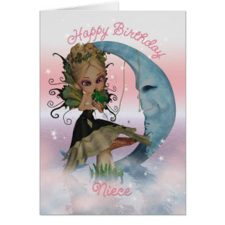 Niece Birthday Card With Cute Fairy And Frog Princ