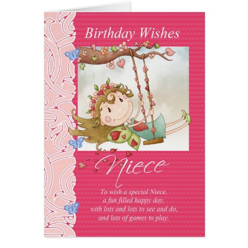 Niece Birthday Wishes Greeting Card With Fairy