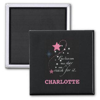 Niece Graduation Star, Custom Gift Square Magnet