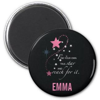Niece Graduation Star, Gift, Custom Round Gifts 2 Inch Round Magnet