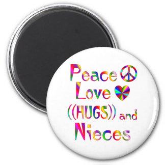 Niece Hugs 2 Inch Round Magnet
