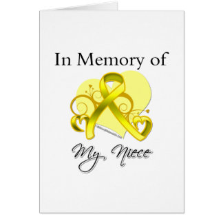 Niece - In Memory of Military Tribute Card