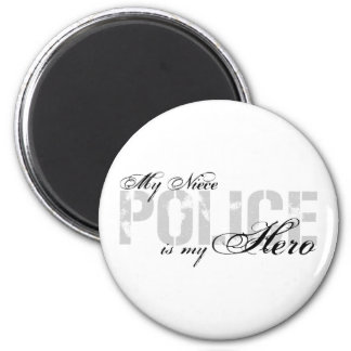 Niece Is My Hero - POLICE 2 Inch Round Magnet