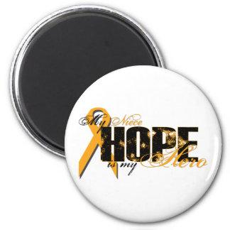 Niece My Hero - Leukemia Hope 2 Inch Round Magnet