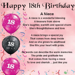 Nieces 18th Birthday Gifts On Zazzle CA