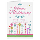Niece Pretty Birthday Card With Butterflies