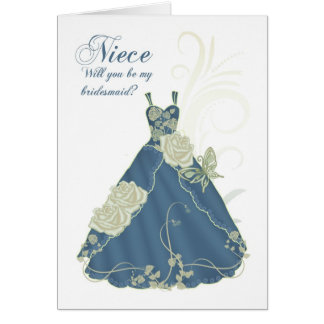 Niece Will You Be My Bridesmaid Card - Ivory And B
