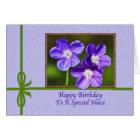 Niece's Birthday Card with Purple Violas