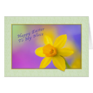 Niece's Easter card with Daffodil