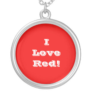 Niecklace I Love Red Silver Plated Necklace