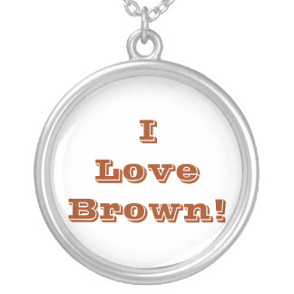 Niecklace I Love Tan Silver Plated Necklace