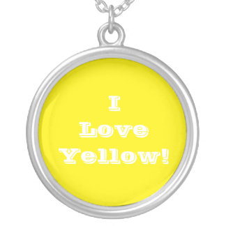Niecklace I Love Yellow Silver Plated Necklace