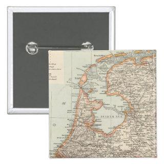 Niederlande - Netherlands Map 2 Inch Square Button