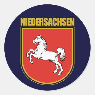 Niedersachsen (Lower Saxony) COA Classic Round Sticker