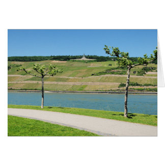 Niederwalddenkmal with coarse home on the Rhine Card