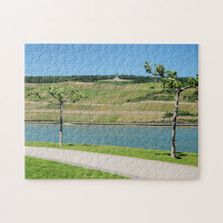 Niederwalddenkmal with coarse home on the Rhine Jigsaw Puzzle