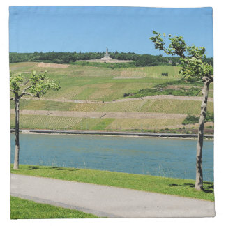 Niederwalddenkmal with coarse home on the Rhine Napkin