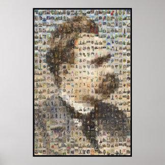 Nietzsche 24x24 in Ovals Poster