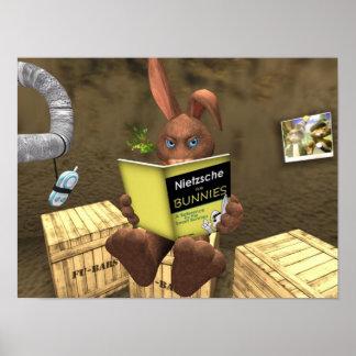 Nietzsche For Bunnies Tiny Nation Poster