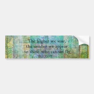 Nietzsche inspirational SOAR quote Bumper Sticker