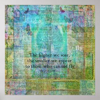 Nietzsche inspirational SOAR quote Poster