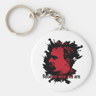 Nietzsche Keychain- Become Who You Are Keychain