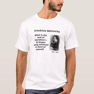 Nietzsche, No Longer Ashamed T-Shirt