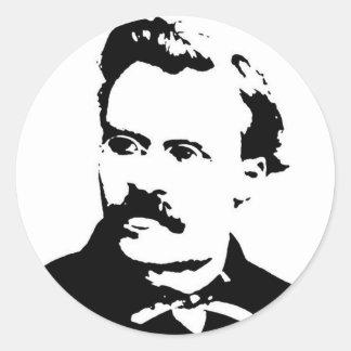 Nietzsche Picture Classic Round Sticker