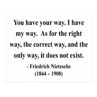 Nietzsche Quote 1a Postcard