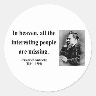 Nietzsche Quote 4b Round Sticker