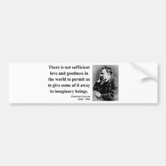 Nietzsche Quote 7b Bumper Sticker