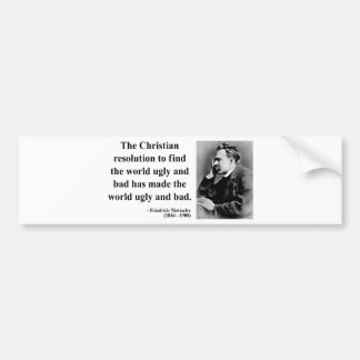 Nietzsche Quote 8b Bumper Sticker