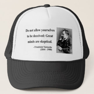 Nietzsche Quote 9b Trucker Hat