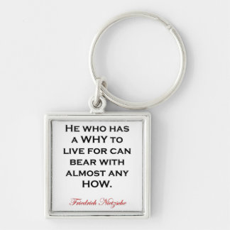 Nietzsche Quote - Bear Any How Keychain