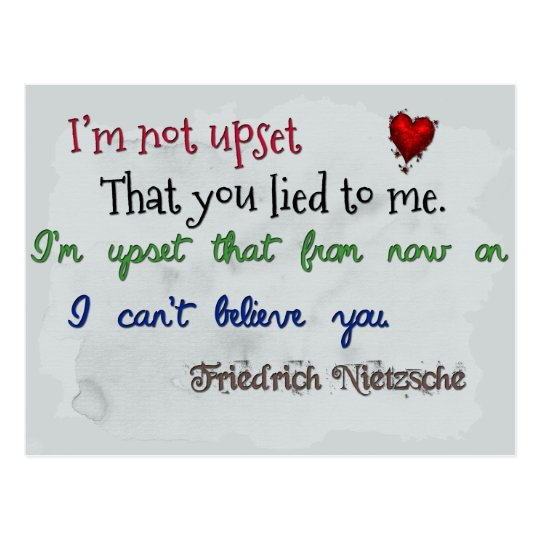 Nietzsche quote postcard