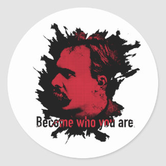 Nietzsche Sticker - Become Who You Are
