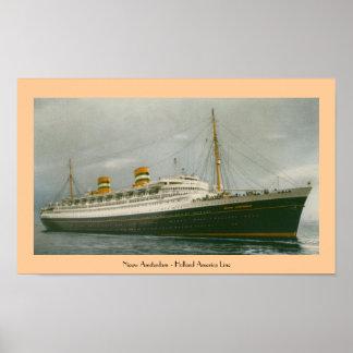 Nieuw Amsterdam - Holland America Line Poster