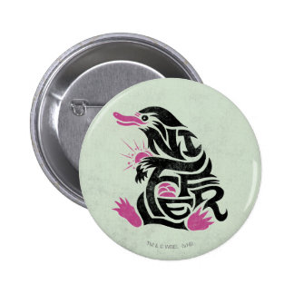 Niffler Typography Graphic 2 Inch Round Button
