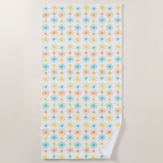 Nifty fifties - atoms and stars beach towel