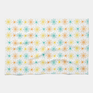 Nifty fifties - atoms and stars kitchen towel