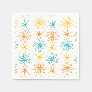 Nifty fifties - atoms and stars napkin paper napkins