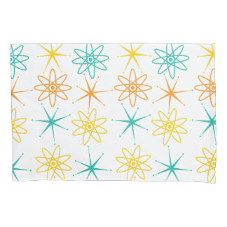 Nifty fifties - atoms and stars pillow case